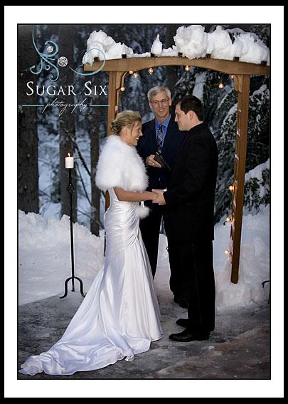 Wet Winter Wedding Raven Glacier Lodge Girdwood